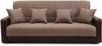 Диван Интер Мебель Лондон с 2 подушками (рогожка микс коричневый) -
