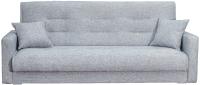 Диван Интер Мебель Лондон-2 с 2 подушками (рогожка серый) -