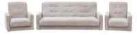 Комплект мягкой мебели Интер Мебель Лондон-2 (рогожка бежевый) -