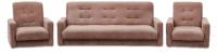 Комплект мягкой мебели Интер Мебель Лондон-2 (рогожка коричневый) -