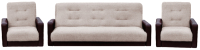 Комплект мягкой мебели Интер Мебель Лондон (рогожка бежевый) -