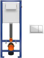 Инсталляция для унитаза Cersanit Aqua 02 S97-063 + P-BU-ENT/Wh (пластик белый) -