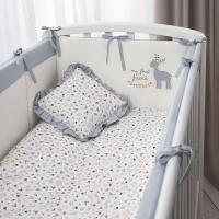 Комплект постельный в кроватку Perina Little Forest / ЛФ7-01.4 (аквамарин) -