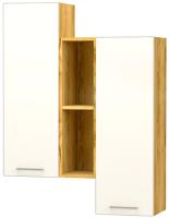 Шкаф навесной Премиум Лего 2 (дуб бунратти/белый) -