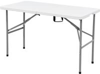 Стол складной Calviano Пластиковый 122 (белый) -