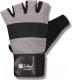 Перчатки для пауэрлифтинга Indigo 97867 IR (XL, белый/серый) -