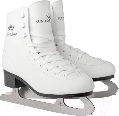 Коньки фигурные Sundays Ice Queen PW-215-2 (р-р 34)