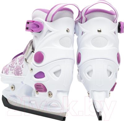 Ролики-коньки Sundays PW-223B-90-1 (S, белый/фиолетовый)