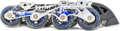 Ролики-коньки Sundays PW-253B-9 (XS, черный/белый/синий)