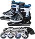 Ролики-коньки Sundays PW-253B-9 (M, черный/белый/синий) -