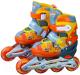 Роликовые коньки Action 155B (XS, серый/оранжевый) -