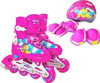 Роликовые коньки Action 155B (S, розовый) -