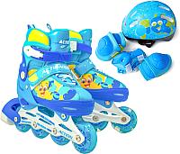 Роликовые коньки Action 155B (XS, синий/желтый) -