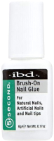 Клей для накладных ногтей IBD Brush-On Nail Glue с кисточкой (6г) -