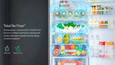 Холодильник с морозильником LG GA-B419SQGL