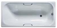Ванна чугунная Универсал Ностальжи-У 150x70 (1 сорт, с ножками и ручками) -