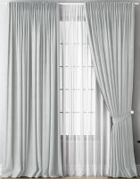 Комплект штор СуперТекСтиль Найт (250x260, светло-серый) -