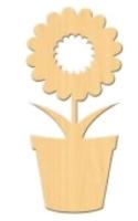 Заготовка для декорирования ПАЛИТРА Цветок в горшке / 652 -