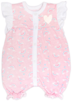 Боди для младенцев Amarobaby Rainbow / AMARO-ODRB7-80 (розовый, р-р 80-86) -