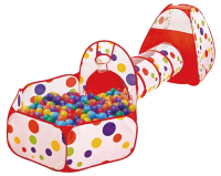 Детская игровая палатка Pituso Конус + туннель + сухой бассейн / J1049-1 (100 шаров) -