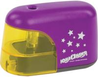 Точилка Юнландия Stars электрическая / 228425 (фиолетовый) -