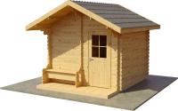 Хозблок деревянный Лесково ХБ-2 3.0x4.0 (прозрачный/серый) -