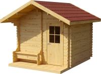 Хозблок деревянный Лесково ХБ-2 3.0x4.0 (прозрачный/коричневый) -