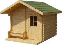 Хозблок деревянный Лесково ХБ-2 3.0x4.0 (прозрачный/зеленый) -
