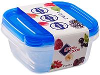 Набор контейнеров Good&Good SSQ 2-1 (синий) -