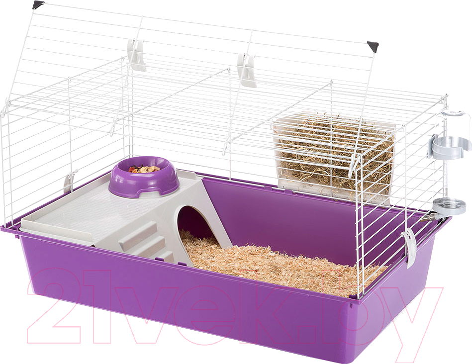 Купить Клетка для грызунов Ferplast, Cavie 80 New / 57054401 (фиолетовый), Италия, белый