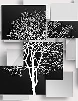 Фотообои листовые Citydecor Дерево инь-янь 3D (200x254) -