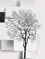 Фотообои листовые Citydecor Дерево 3D Инь-янь 2 (200x254) -