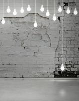 Фотообои листовые Citydecor Лампочки 3D (200x254) -