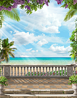 Фотообои Citydecor Фреска вид на море 3D (200x254) -