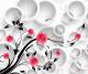 Фотообои Citydecor Цветочный декор 3D (300x254) -