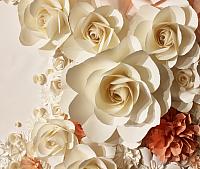 Фотообои листовые Citydecor Цветы 3D (300x254) -