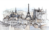 Фотообои Citydecor Акварельный Париж (400x254) -