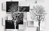 Фотообои листовые Citydecor Дерево 3D Инь-янь (400x254) -