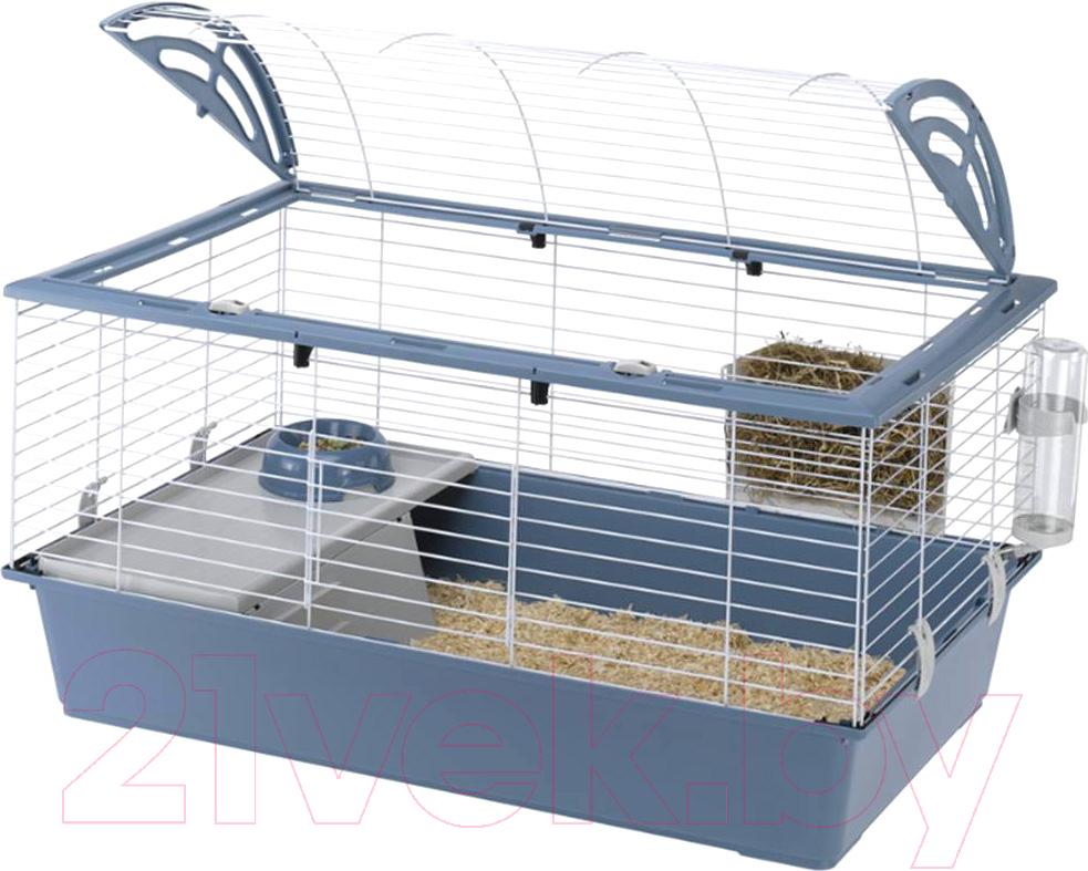 Купить Клетка для грызунов Ferplast, Casita 100 / 57066170 (синий), Италия, белый