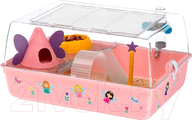 Купить Клетка для грызунов Ferplast, Mini Duna Magic / 57075480, Италия, розовый