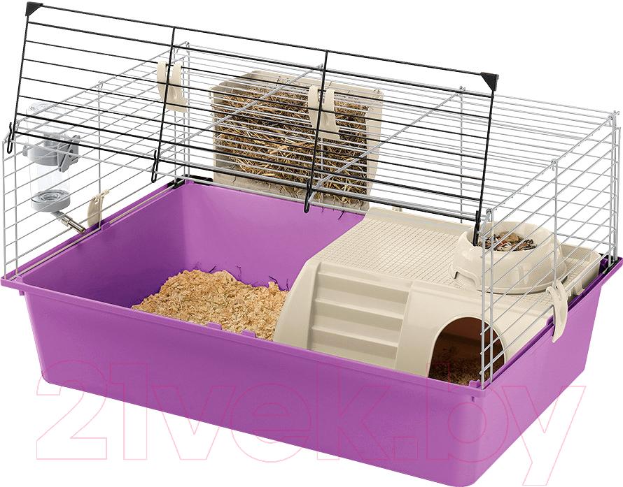 Купить Клетка для грызунов Ferplast, Cavie 15 Tris / 57077470 (фиолетовый), Италия, белый
