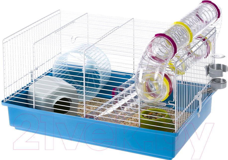Купить Клетка для грызунов Ferplast, Paula / 57906411 (голубой), Италия, белый