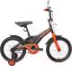 Детский велосипед Black Aqua Sharp 16 KG1610 со светящимися колесами (хаки/оранжевый) -