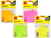Стикеры канцелярские Deli А03102 (4 цвета) -