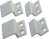 Комплект креплений москитной сетки Добрае акенца КРМСБЕЛ10 (10шт, белый) -