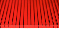Сотовый поликарбонат КомфортПром Пион 2м 4мм (красный) -