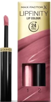 Набор декоративной косметики Max Factor Lipfinity Помада Lip Colour+Блеск Moisturising Top Coat 020  (2.3мл) -
