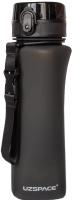 Бутылка для воды UZSpace One Touch Matte / 6028 (700мл, черный) -