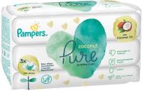 Влажные салфетки Pampers Pure Protection Coconut (3x42шт) -