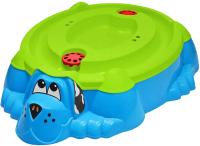 Песочница-бассейн PalPlay Собачка 432 с крышкой (голубой / зеленый) -